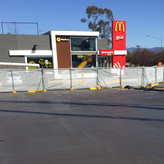 MCDONALDS CARPARK - COLOURED WITH MACHINE COVE FINISH